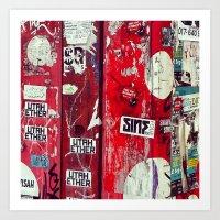 graffiti Art Prints featuring Graffiti by Limmyth