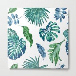 Plant Friends Leaf Set Metal Print