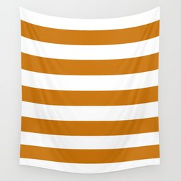 Asda Orange (1968) - solid color - white stripes pattern Wall Tapestry