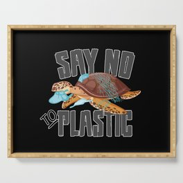 Climate Change CO2 Future Planet Earth Gift Idea Serving Tray