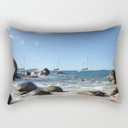 Sailing Boats at the Baths, BVI Rectangular Pillow