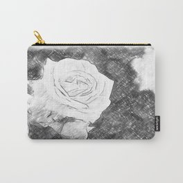 Pink Roses in Anzures 1 Charcoal Carry-All Pouch