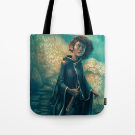 The Girl in Black Tote Bag