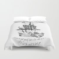 larry stylinson Duvet Covers featuring Larry tattooes by Drawpassionn