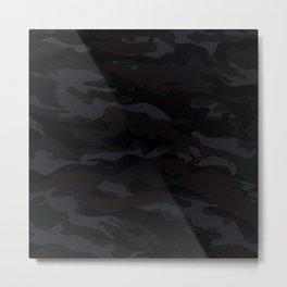 Black Camo Metal Print