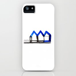 Houses in Blue No.: 02 iPhone Case