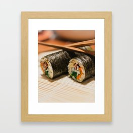 Kimbap Framed Art Print