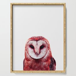 Red owl Serving Tray