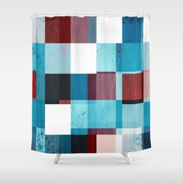 Patriotic Grid Shower Curtain