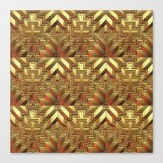 Golden Patchwork Canvas Print