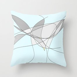The Bird Abstract Throw Pillow