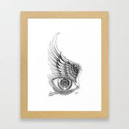 Through the Window the Watcher Came Framed Art Print