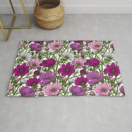 Cosmos flowers mix Rug