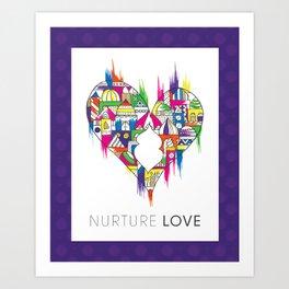 nurture love  Art Print