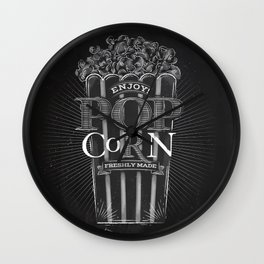Popcorn chalk Wall Clock