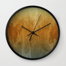 Earthy Water Color Abstract Wall Clock