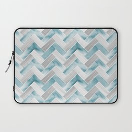 Parquetry in Watercolour - Powder Blue Laptop Sleeve