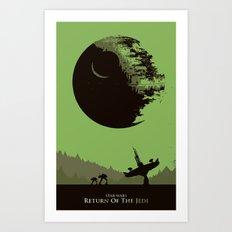 The star war movie wall art print Art Print