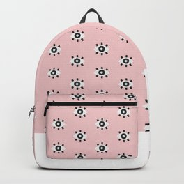Evil Eye Dots – Blush & Black Backpack