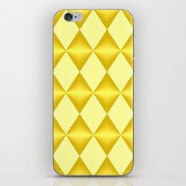 Abstract golden diamonds  iPhone Skin
