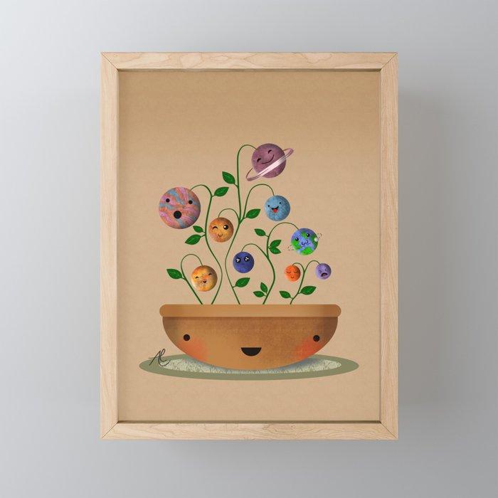 Planets Plant Framed Mini Art Print