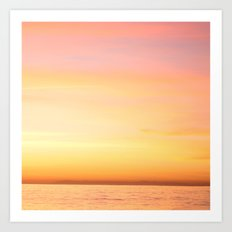 Sunset Over the Pacific I Art Print