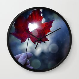 My heart lives in Nature! Wall Clock