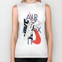 nike Biker Tanks featuring Nike Air Max TN by Phil Parcellano