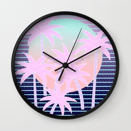 Hello Miami Moonlight Wall Clock