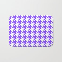 Periwinkle Houndstooth Bath Mat