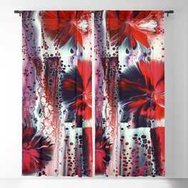 Dropping Flowers Blackout Curtain
