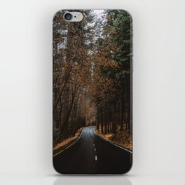 AUTUMN FOREST ROAD iPhone Skin