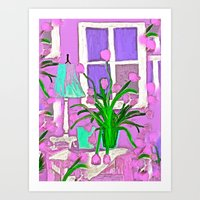 tulips Art Prints featuring Tulips by Saundra Myles