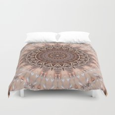 Mandala romantic pink Duvet Cover