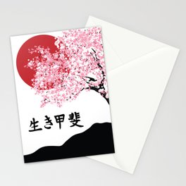 ikigai cherry blossom Stationery Cards