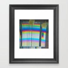 Abstract with rainbow Framed Art Print