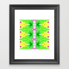 Florida Weekend - Modern Tropical Palm Pattern Framed Art Print