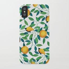 Lemon pattern II iPhone Case