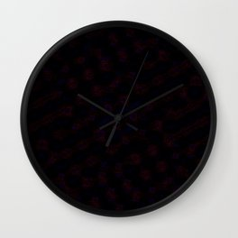 Blue and Black Design Wall Clock