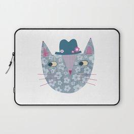 Flowery Cat in a Flowery Hat Laptop Sleeve