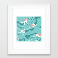 mermaids Framed Art Prints featuring Mermaids by JESS SMART SMILEY