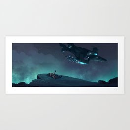 Under the Night Sky Once More Art Print