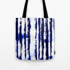 Tie-Dye Shibori Stripe Blue Tote Bag