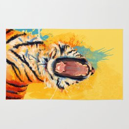 Wild Yawn - Tiger portrait Rug
