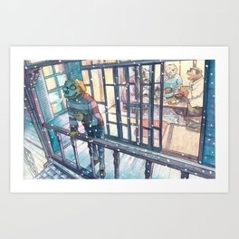 Cold In Yokohama #08 Art Print