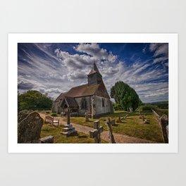 St Bartholomew Chalvington Art Print