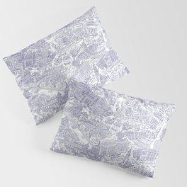 Illustrated map of Berlin-Mitte. Ink pen design Pillow Sham
