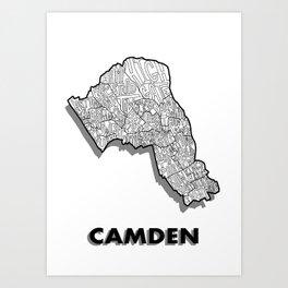 Camden - London Borough - Simple Art Print