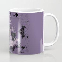 Black Cat Tsuki Coffee Mug