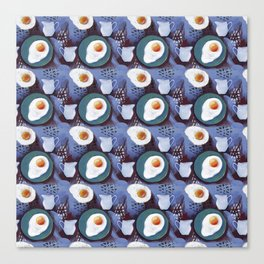 Scrambled eggs and jug. Pattern. Canvas Print